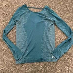 NWT blue long sleeve under armour workout top